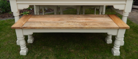 Rustic Oak Finish Bench (painted)
